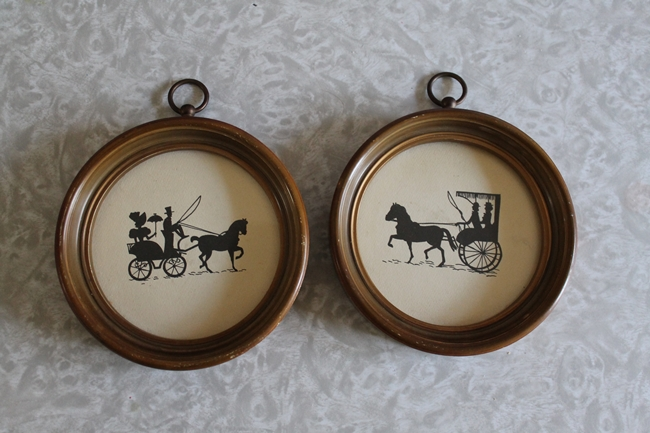 vintage carriage silhouette home decor
