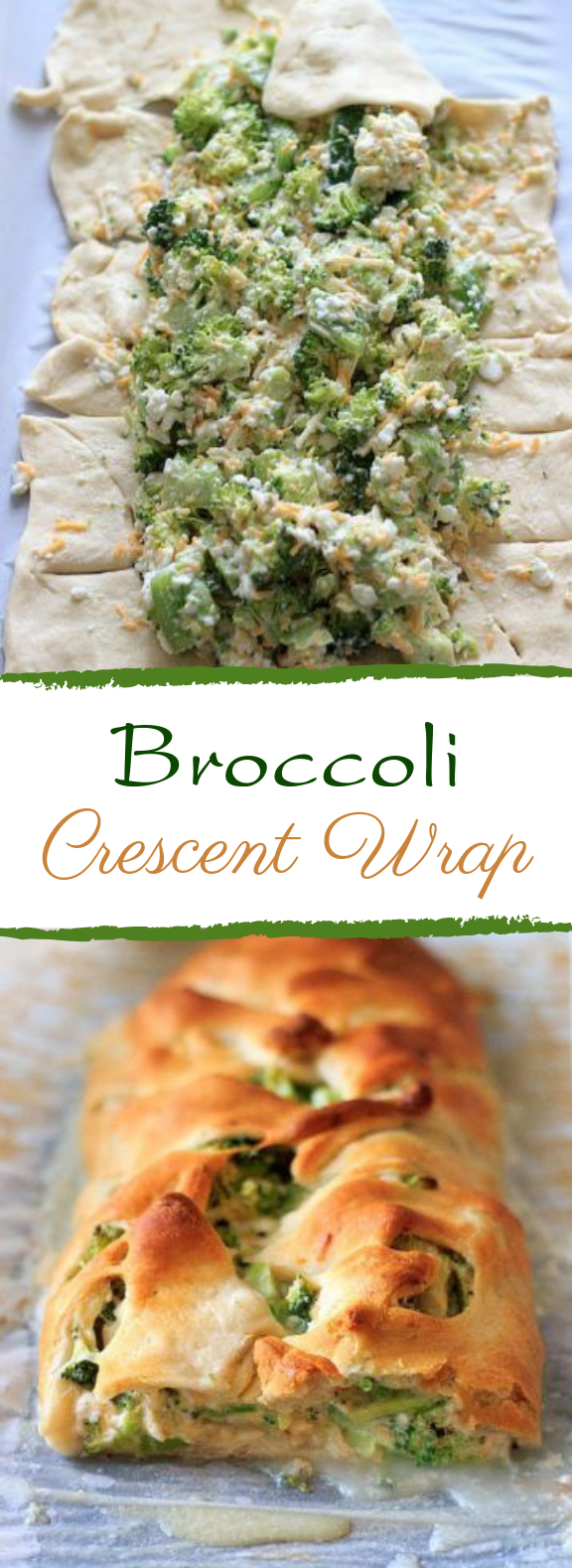 Broccoli Crescent Wrap #easyrecipe #vegetarian