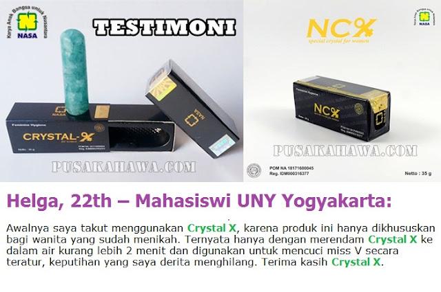 NCX NASA ramuan tradisional keputihan Crystal X testimoni