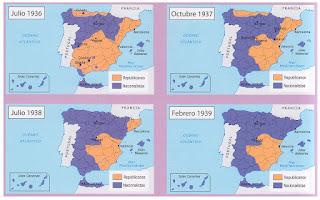 Resultado de imagen de guerra civil mapa