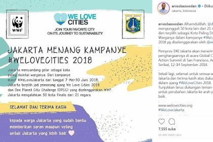 Jakarta Terpilih Sebagai Kota Paling Dicintai Warganya, Mengalahkan Kota-kota Besar Dunia