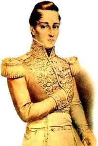 Dibujo de José María Córdova de dorado