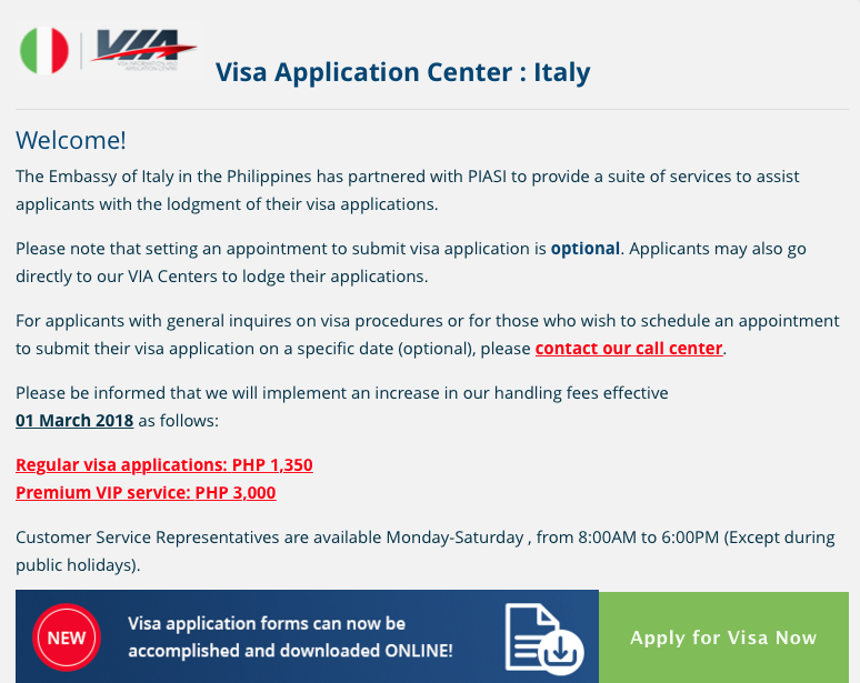 Italian Visa Appointment Book An Appointment 2020 02 08