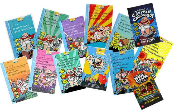 colección Capitán calzoncillos, portada cuentos, libros infantiles