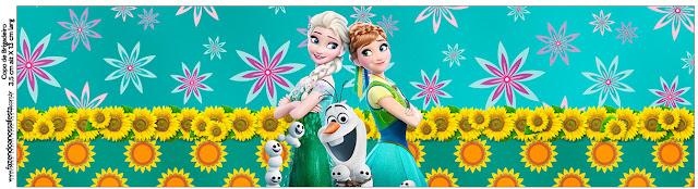 Etiquetas de Frozen Fiebre Congelada para imprimir gratis.
