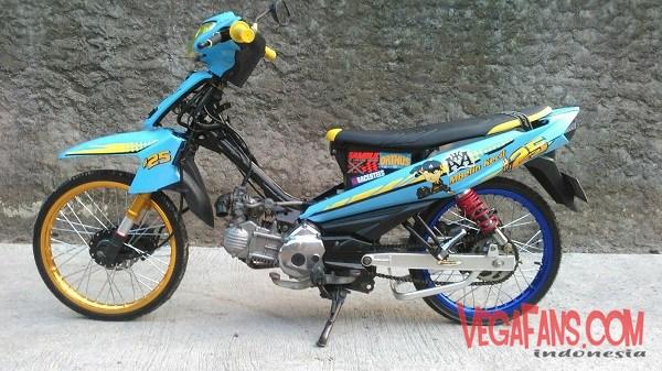 Modifikasi Vega ZR Biru Racing