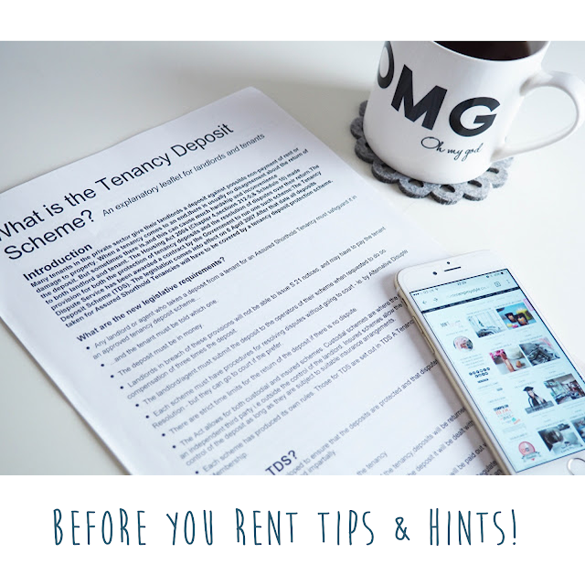 Renting first property, tips and hints.