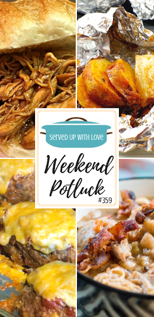 Weekend Potluck featured recipes include Onion Baked Potatoes, White Bean & Pork Stew, Taco Meatloaf, Slow Cooker Root Beer BBQ Chicken, and so much more.