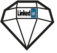Linkedin social network diamante