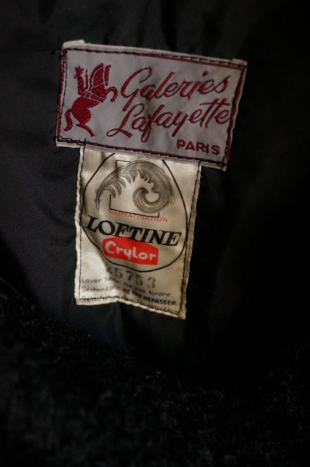 galeries lafayette années 50 1950s manteau 50s coat