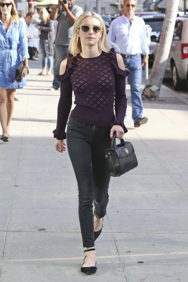 Emma Roberts Out in Beverly Hills