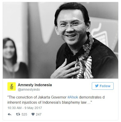 Former Jakarta Governor 'Ahok': Sentenced to two years for blasphemy