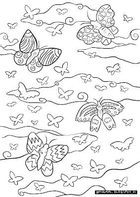 A coloring page of butterflies / Värityskuva perhosista