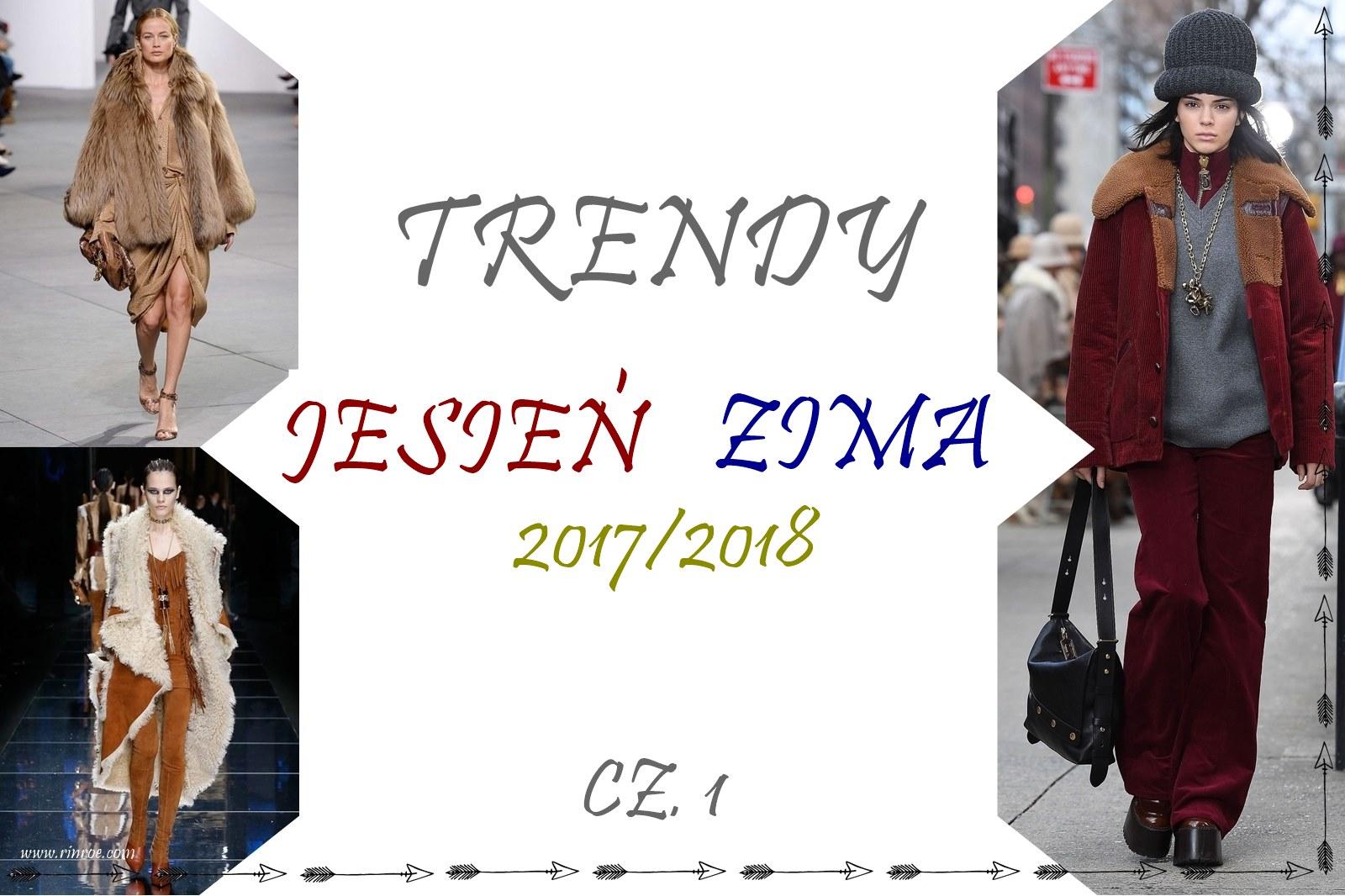 trendy jesień/zima 2017: futra, kożuchy, puchówki i sztruks