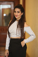 Manjusha in sleevelss crop top and black skirt at Darshakudu pre release ~  Exclusive Celebrities Galleries 102.JPG