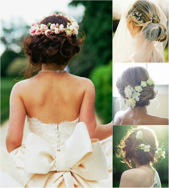 Wedding Hairstyle Flowers: Wedding Hairstyles Up With Flowers