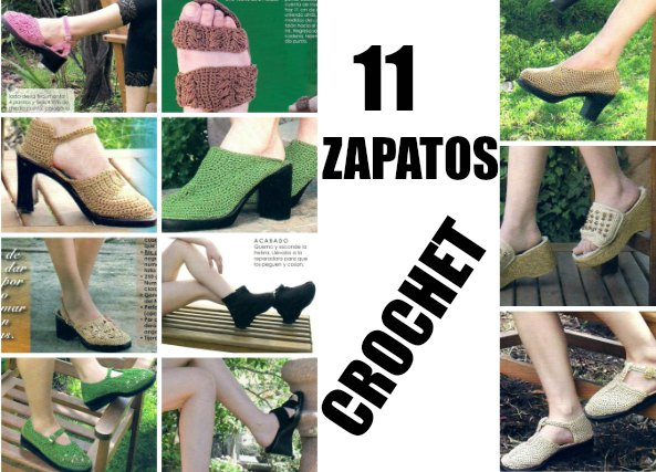 11 zapatos clásicos de ganchillo tutoriales