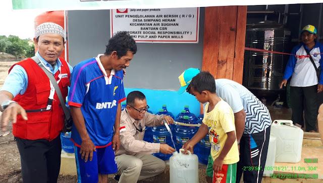 OKI Pulp Resmikan Unit Pengelolan Air di Desa Simpang Heran