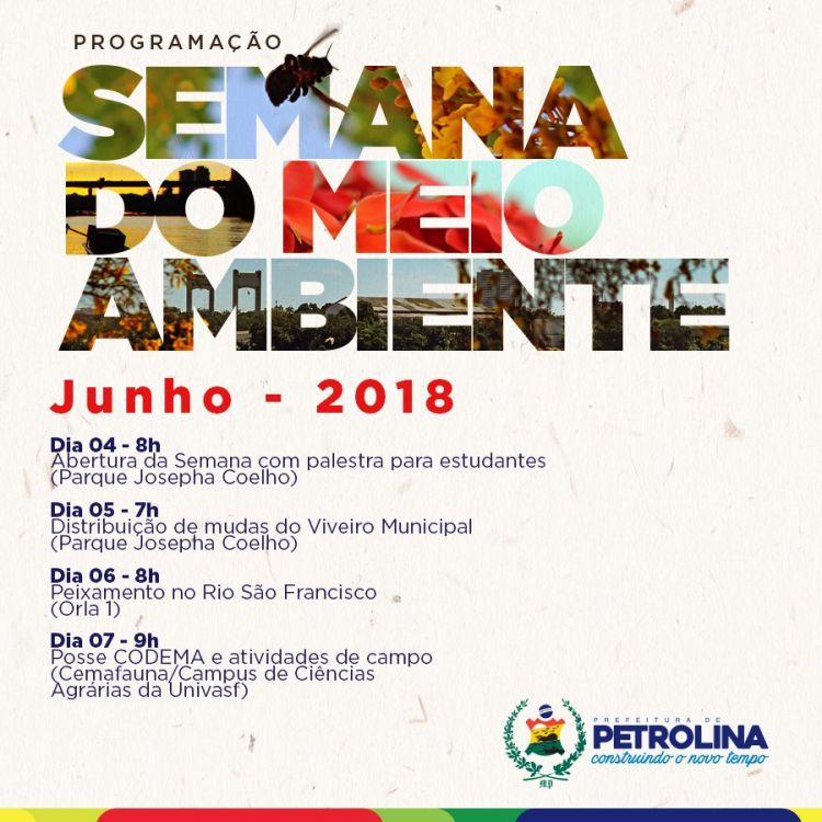 Ações de conscientização marcarão Semana do Meio Ambiente em Petrolina - Notícias, Meio Ambiente, Petrolina-PE, Juazeiro-BA