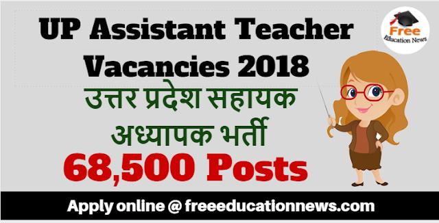 UP Assistant Teacher Vacancy 2018