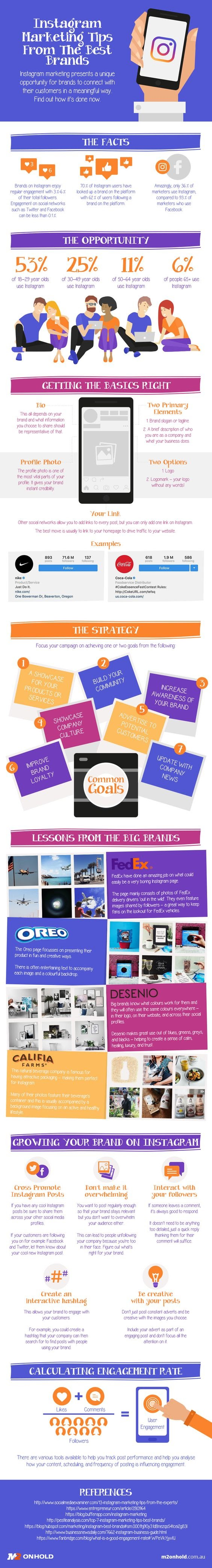 Instagram Marketing Tips from the Best Brands #Infographic