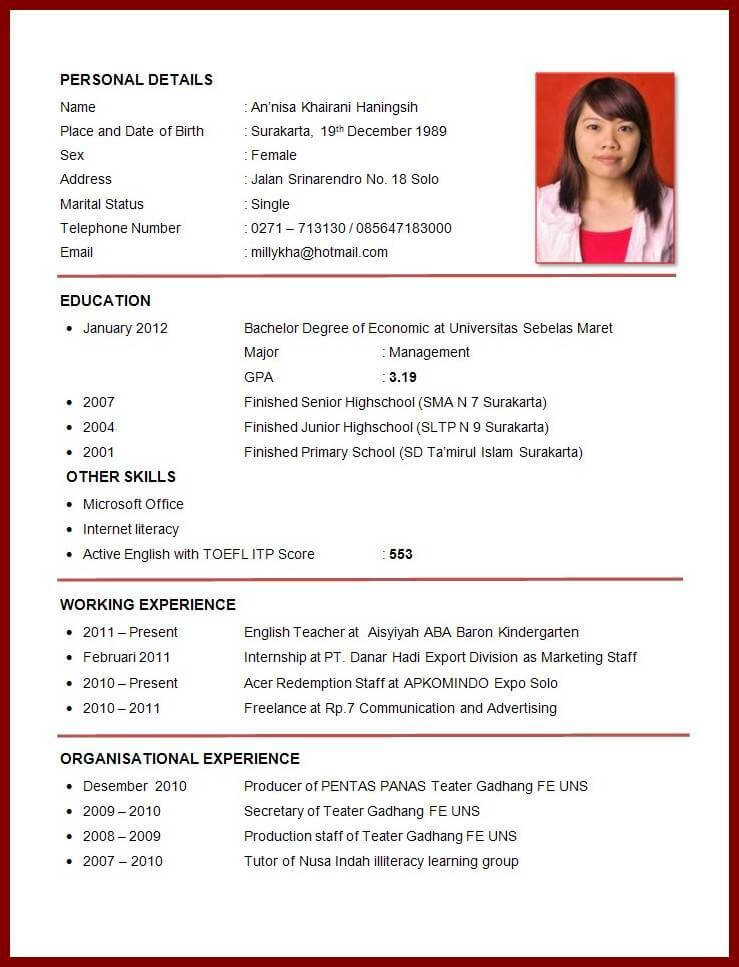 Contoh Surat Lamaran Pekerjaan Untuk Posisi Administrasi Yang Baik Dan Benar