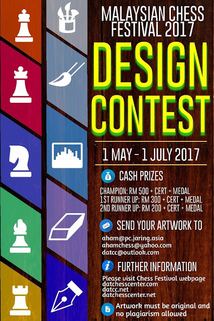 New Design Cover Competition for Malaysian Chess Festival 2017