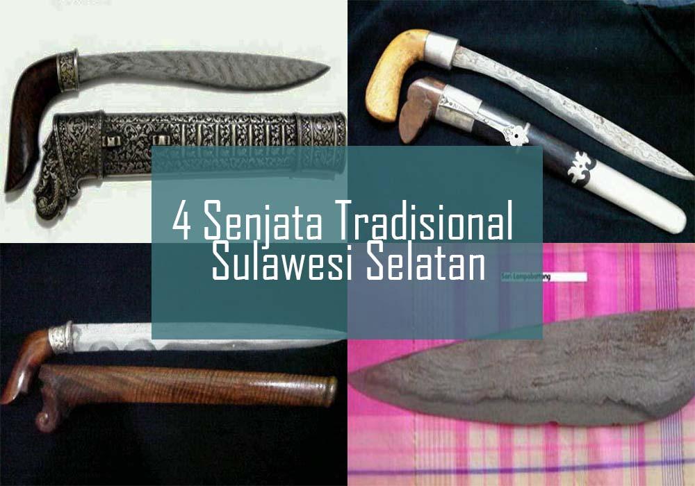 Inilah 4 Senjata Tradisional Dari Sulawesi Selatan