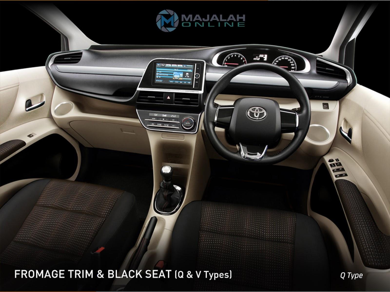 Toyota Sienta : Fromage Trim & Black Seat (Q & V Types)