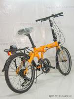 4 Sepeda Lipat Fold-X Seoul 21 Speed Shimano 20 Inci