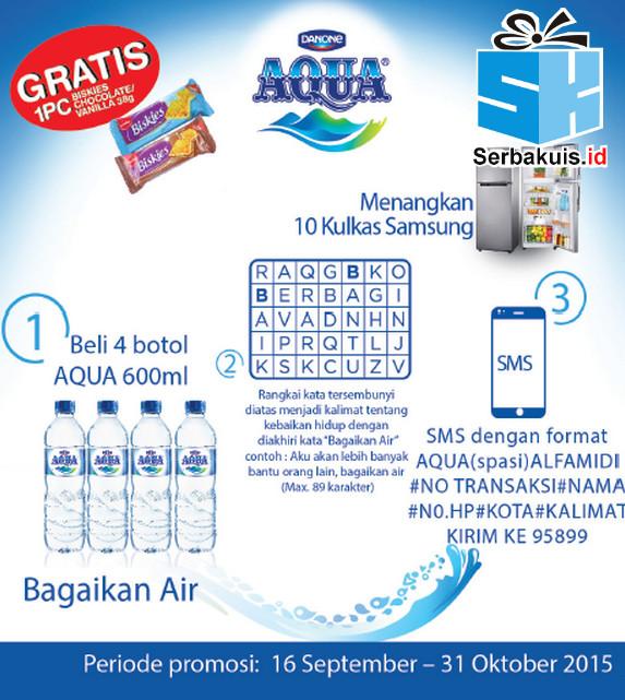 Undian Aqua Bagaikan Air Berhadiah 10 Kulkas SAMSUNG