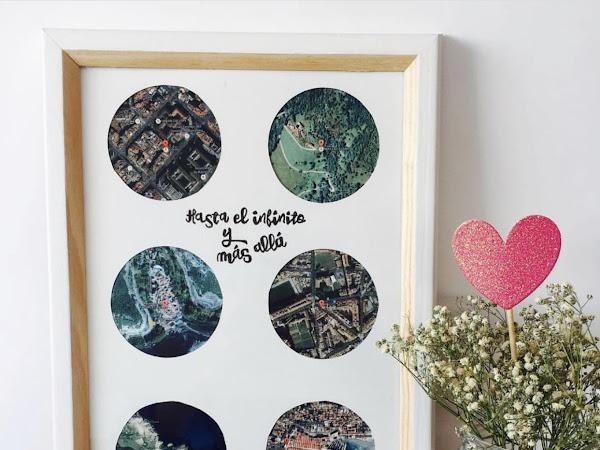 DIY Romanticón: ¡Marco con los lugares especiales de vuestra relación!