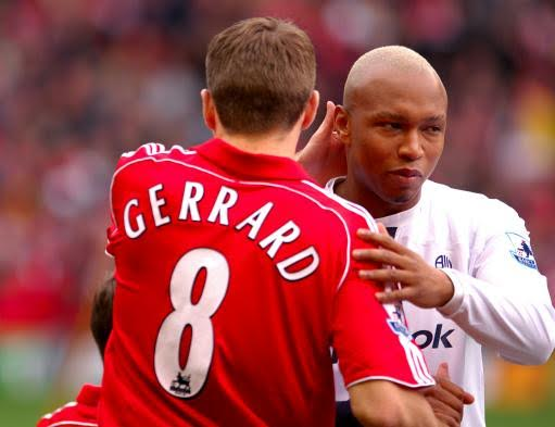 Image result for 'Gerrard and Diouf