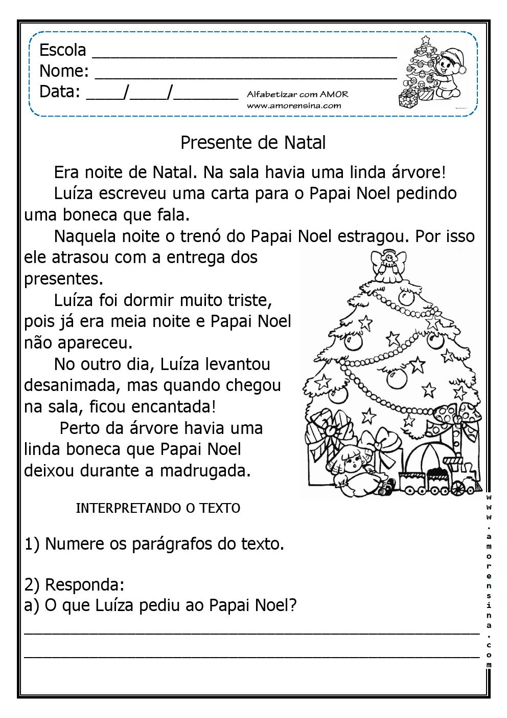 Atividades e desenhos natal alegria em ensinar educa o for Mural de natal 4 ano