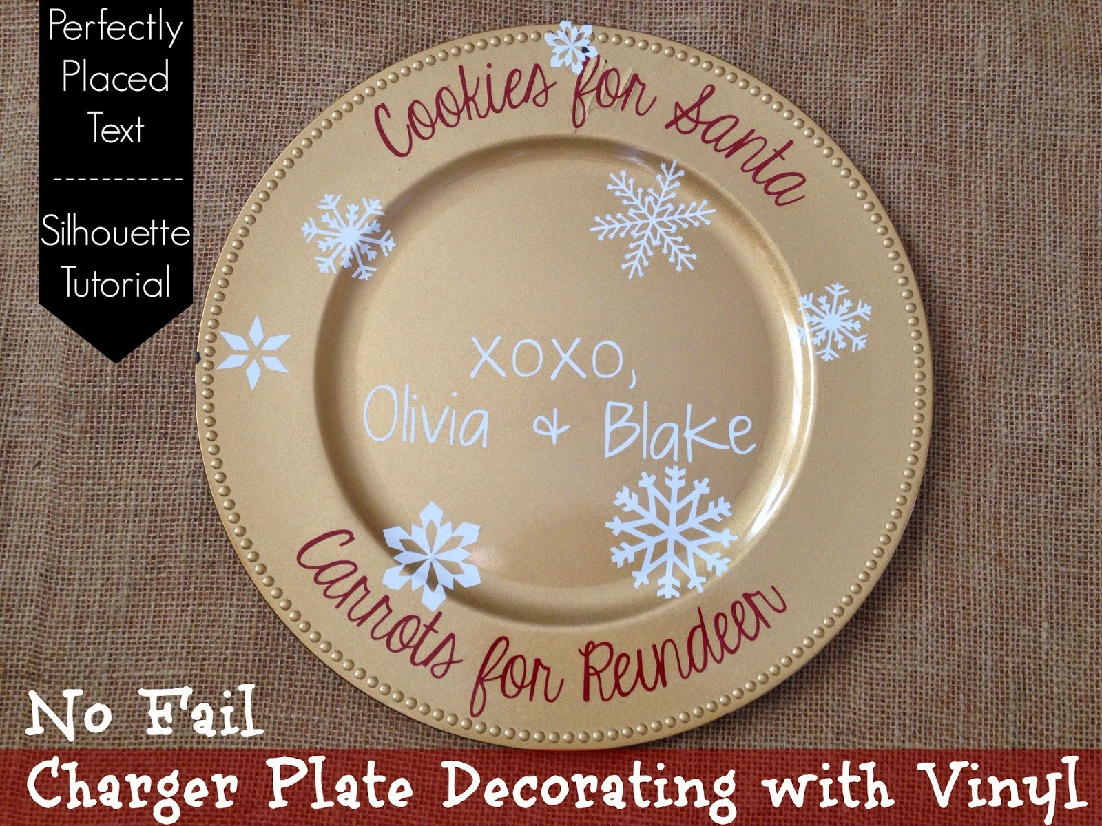How To Perfectly Decorate Charger Plates With Silhouette : decorative plate chargers - pezcame.com