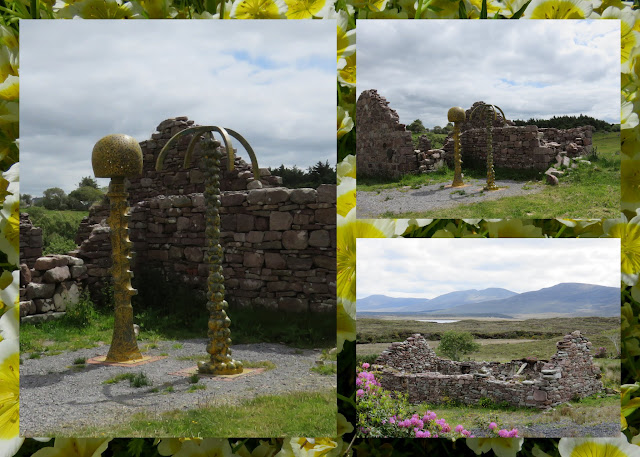 Cycling the Great Western Greenway - County Mayo, Ireland - Historic Ruins and Modern Sculpture