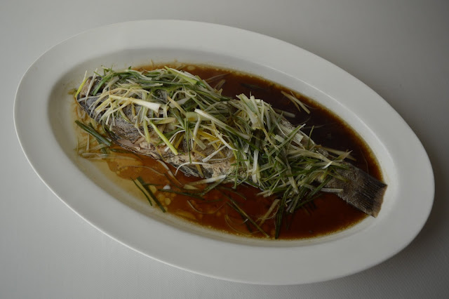 Whole Steamed Fish with Ginger & Spring Onion-