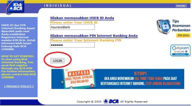 cara daftar internet banking bca 2