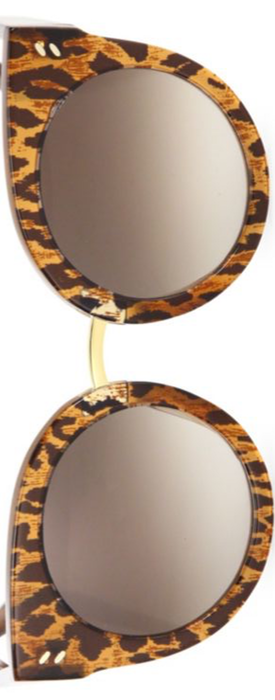 Stella McCartney 51MM Leopard-Print Rounded Cat Eye Sunglasses