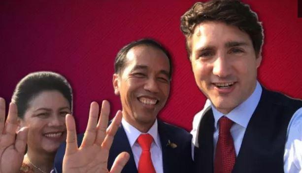 Viral, Justin Trudeau Kelihatan di Vlog Terbaru Presiden Jokowi