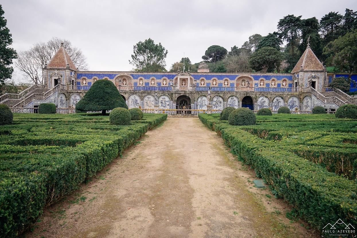 Galeria dos Reis no jardim do Palácio Fronteira