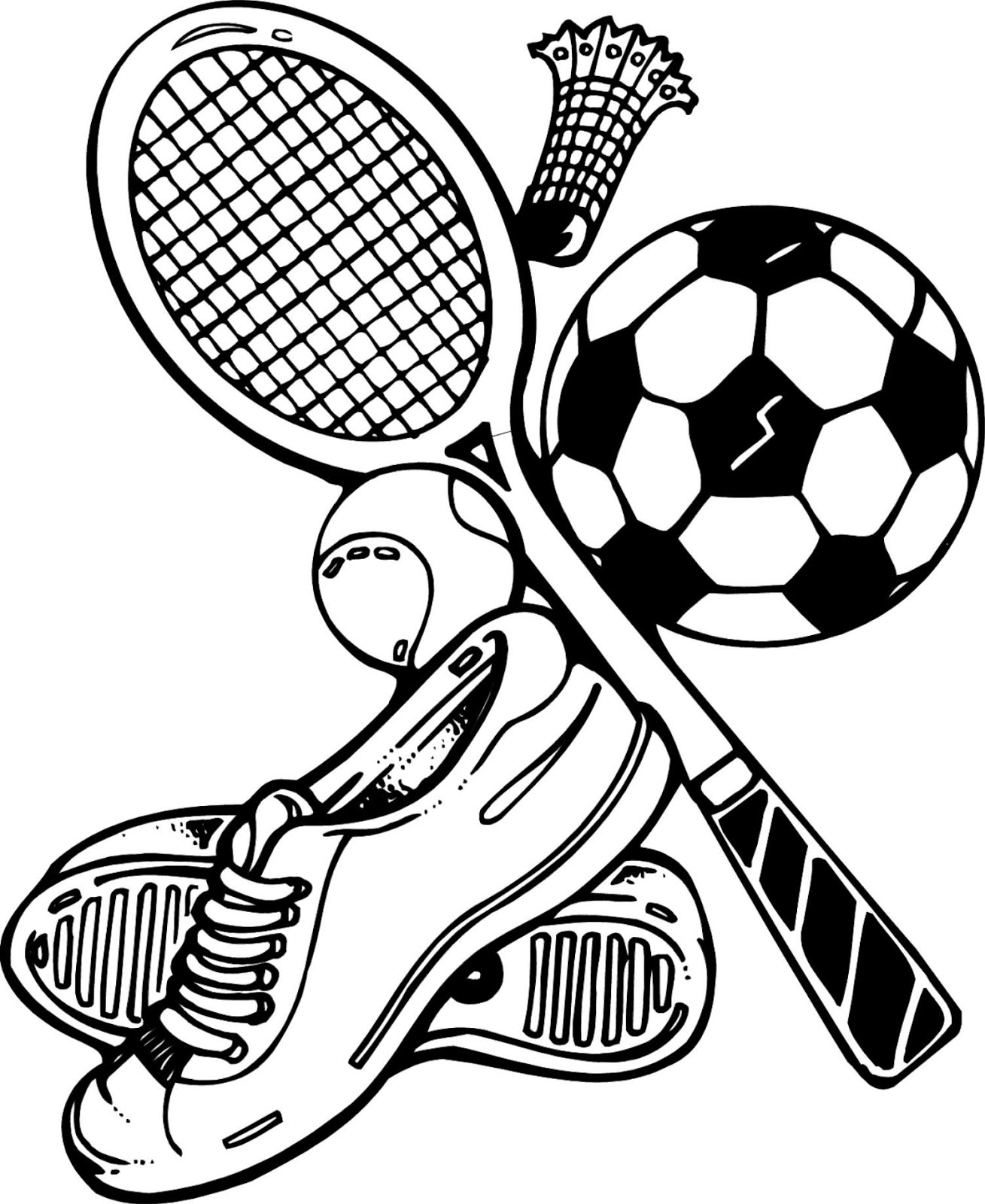 Free Sports Coloring Pages To Print