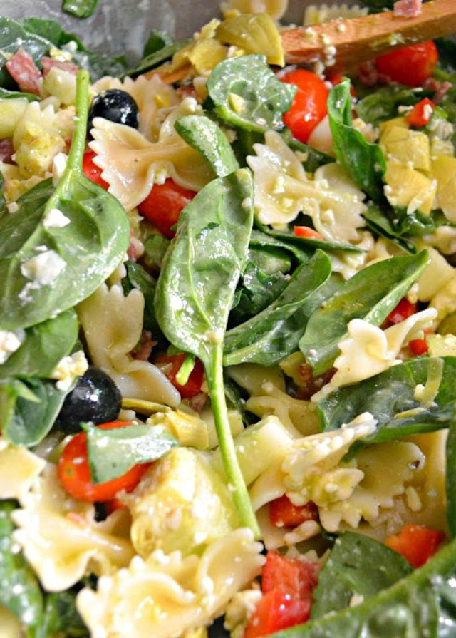 Italian Antipasto Pasta Salad With Basil ViItalian Antipasto Pasta Salad With Basil Vinaigrette recipe is a summertime favorite from Sere