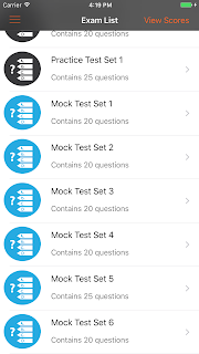 Confidence app - mock test