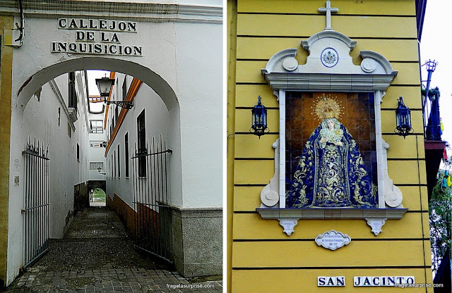 Sevilha, bairro de Triana, Beco da Inquisição e um altar de rua