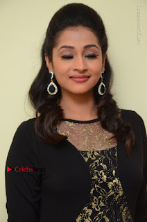 Telugu Actress Manasa Manohar Stills in Black Long Dress at Naku Nene Thopu Turumu Trailer Launch  0025.JPG