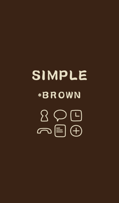 SIMPLE*brown*