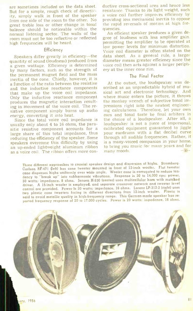 Loudspeakers Fact and Theory - 1956