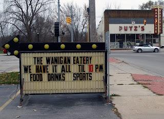Sign outside Wanigan Deli