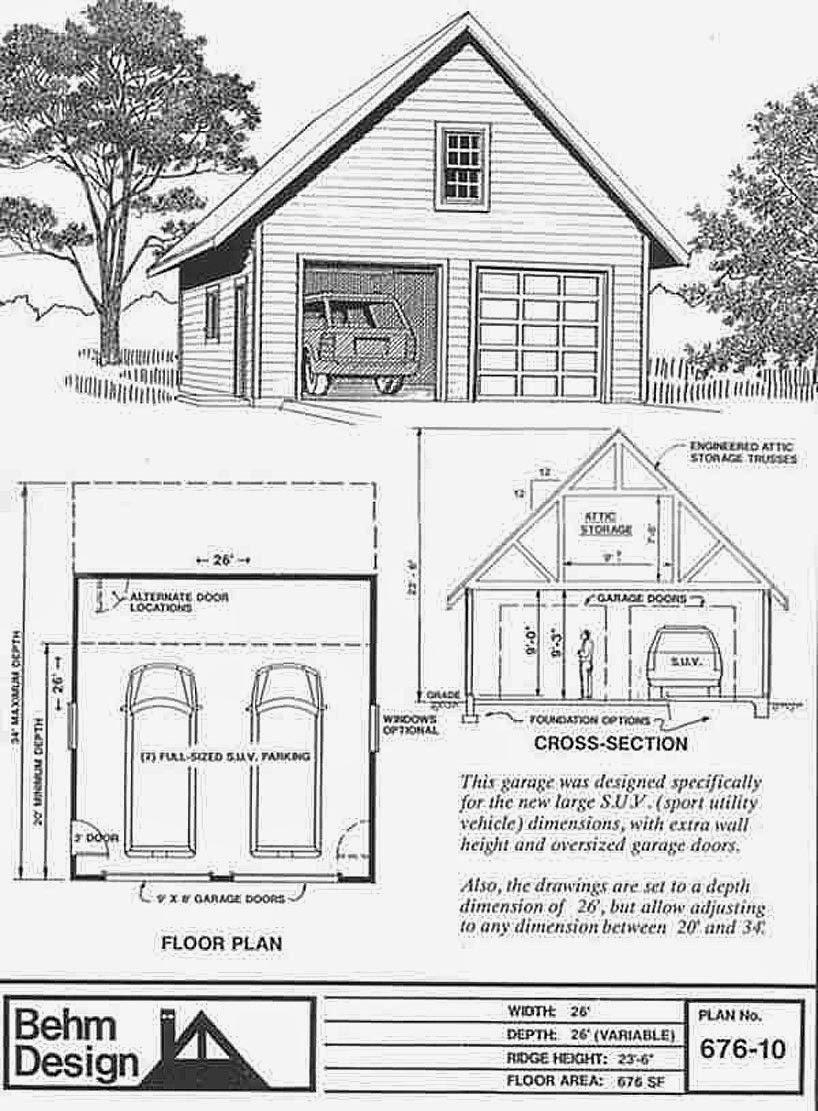 Garage Plans Blog Behm Design Garage Plan Examples Garage Plans – 24X28 Garage Plans
